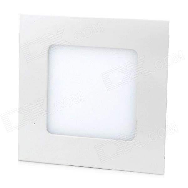 LSON 6W 300LM 3000K Warm White 2835 SMD LED Thin Square Panel Lamp (85~265V)Ceiling Light<br>Form  ColorWhiteColor BINWarm WhiteBrandLSONQuantity1 DX.PCM.Model.AttributeModel.UnitMaterialIron + aluminum alloy + PCPower6WRated VoltageAC 85-265 DX.PCM.Model.AttributeModel.UnitChip BrandOthers,GuanghongChip TypeGuanghong30Emitter TypeOthers,2835 SMD LEDTotal Emitters30Theoretical Lumens390 DX.PCM.Model.AttributeModel.UnitActual Lumens300 DX.PCM.Model.AttributeModel.UnitColor Temperature3000KDimmableNoBeam Angle120 DX.PCM.Model.AttributeModel.UnitExternal Diameter12 DX.PCM.Model.AttributeModel.UnitHole diameter7.3 DX.PCM.Model.AttributeModel.UnitHeight2 DX.PCM.Model.AttributeModel.UnitPacking List1 x Lamp (10cm)1 x Power (12cm / 13cm)1 x Clamp<br>