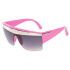 Fashion Plastic Frame PC Lens UV400 Protection Sunglasses for Women - Pink + Grey