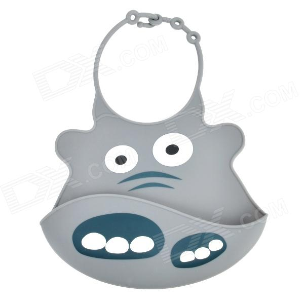 Buy Cartoon Elephant Style Silicone Baby's Bib - Grey with Litecoins with Free Shipping on Gipsybee.com