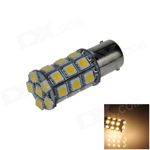 Buy 1141 / BA15S / 1156 6W 540lm 27*SMD 5050 LED Warm White Lamp (12V) with Litecoins with Free Shipping on Gipsybee.com