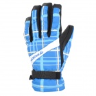 MOON BH-102 Outdoor Multi-Function Anti-Slip Skiing Gloves - Black + Blue (Pair / Size XL)