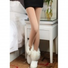 Casual Women's Warm Tight-Skin Ninth Pants - Skin Color (Free Size)