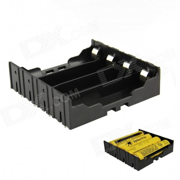 Buy DIY 4-Slot 18650 Battery Holder With Pins - Black with Litecoins with Free Shipping on Gipsybee.com