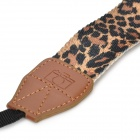 NC-513 Leopard Print Style Universal Camera Strap - Yellow + Leopard (150cm)
