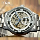 mce 01-0060064 Steel Fully Automatic Hollow Out Mechanical Wrist Watch - Silvery White