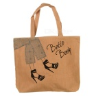 Casual Canvas Zipper Tote Bag / Handbag for Women - Beige + Black + Multicolored