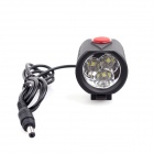 3T6 3-LED 2400lm 4-Mode Cool White Light Bicycle Light - Black