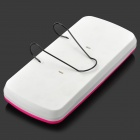 0001 ABS Hanging Type Sunshade Board Car Tissue Box - Deep Pink + White