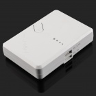 "Dual-USB ""13000mAh"" External Battery Power Charger w/ LED Indicator - White"