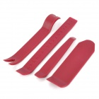 Convenient ABS Car Stereo Dismantle Tool Set - Dark Red (4 PCS)