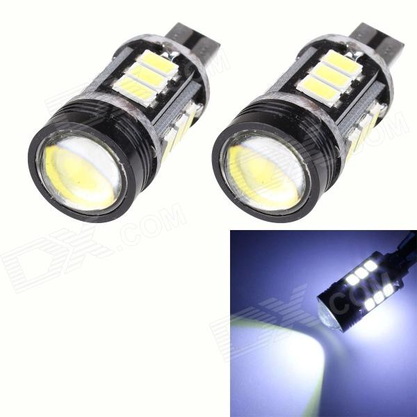 Buy T10 7.5W 420lm 12-SMD 5630 LED + 1.5W LED Error Free White Car Parking Lamp / Car Turn Signal Light with Litecoins with Free Shipping on Gipsybee.com