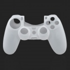 Protective Silicone Case w/ Joystick Cap Cover for PS4 - White