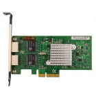 Winyao WY5709-T2 PCI-E X4 Dual Port Server Gigabit Network Card Adapter - Green