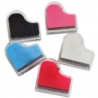 DEDO MG-12 Piano Shape Acrylic Magnet Paper Clips - White + Red + Blue + Pink + Black (5 PCS)