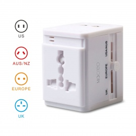 All-in-One-Universal-Travel-Power-Adapter-Converter-for-AUUKUSEU-Plug-w-Dual-USB-Charger-White