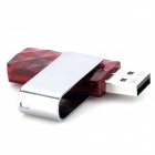 Silicon Power U30 Rotatable Cover USB 2.0 Flash Drive - Red + Silvery Grey (64GB)