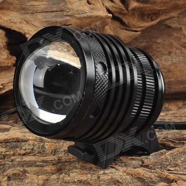 E2XQ LED 800lm 3-Mode White Zooming Bike Headlamp - Black (4 x 18650)