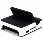 Charging Dock + 3-Port USB Hub + SD Card Adapter for Samsung - Black + Silver