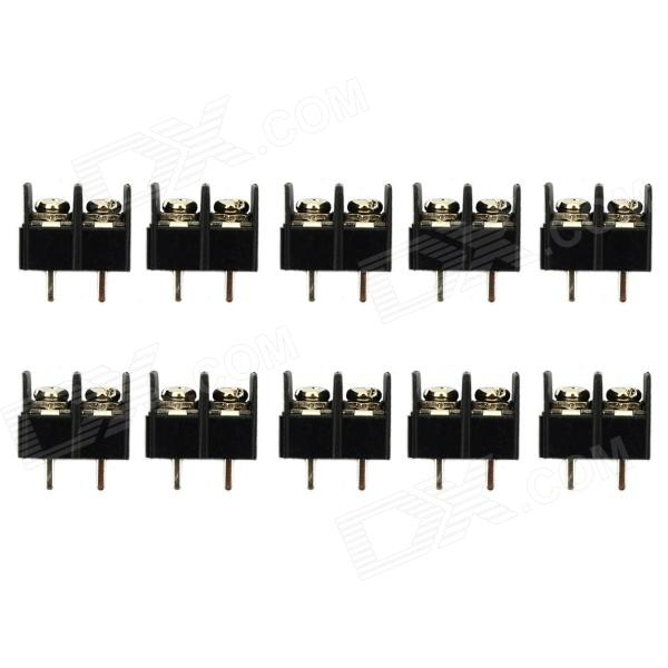 Terminal Blocks 5Pcs Black 7 62mm Pitch 5 Pin Barrier Terminal Block