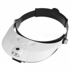 Two-way Regulation Head-Wearing Magnifier w/2-LED Light - Black+White