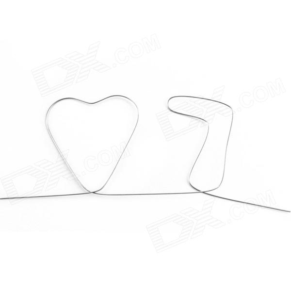 Magic Props - Memory Wire  Heart and Seven ( L )Magic Supplies<br>Form  ColorLight BlackMaterialIronQuantity1 DX.PCM.Model.AttributeModel.UnitSuitable Age 8-11 years,12-15 years,Grown upsPacking List1 x Wire Straighten 55cm<br>