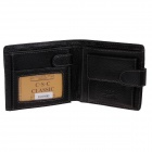 C.S.C AA2006MI Stylish Men's Head Layer Cowhide Purse Wallet - Black