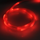 TH-2013 Decorative Flexible Red LED Light Strip for Bicycle - White + Black