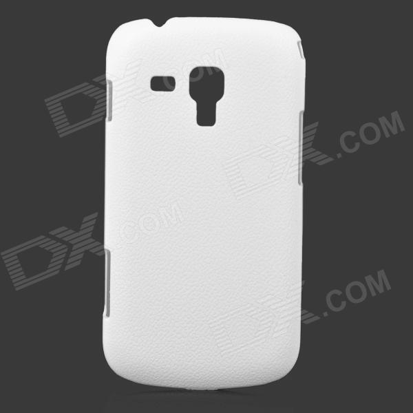 Lychee Grain Style Protective ABS Back Case for Samsung Galaxy Trend Duos S7562 / S7560 - White