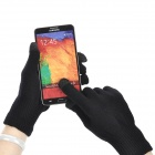 Woolen Yarn Warm Screen Touch Gloves - Black (Pair / Size XL)