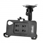 Car Windshield Mount Holder w/ Car Charger for LG Nexus 5 - Black