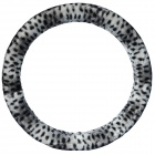 CHIEF Leopard Print Car Autumn Winter Steering Wheel Cover - Black Leopard (38cm)