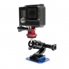 "High Precision CNC Aluminum Alloy 1/4"" Tripod Adapter Mount for Gopro Hero 4/3+/Hero3/Hero2 - Red"