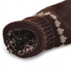 Snowflake Pattern Woolen Yarn Mitten Gloves - Coffee (Pair)