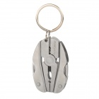 AceCamp 2568 Egg Shaped Multi-Function Folding Tools Set w/ Key Chain - Silver Grey