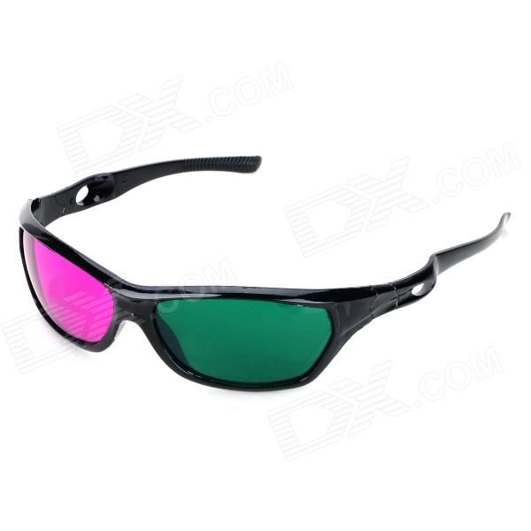 3D Anaglyphic Glasses - Green + Purple