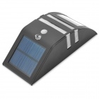 50lm 6500K Solar Powered Wall Body Induction Lamp - Black