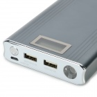 "M1 ""15600mAh"" Power Bank w/ 1"" Display Screen for Cell Phone - Iron Grey"