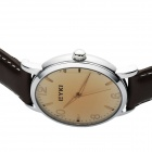 Simple Retro Fashionable Men's Watch - Brown