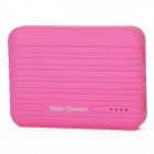 Water-Element-A10-10400mAh-Dual-USB-Portable-Power-Source-Bank-w-Flashlight-Deep-Pink