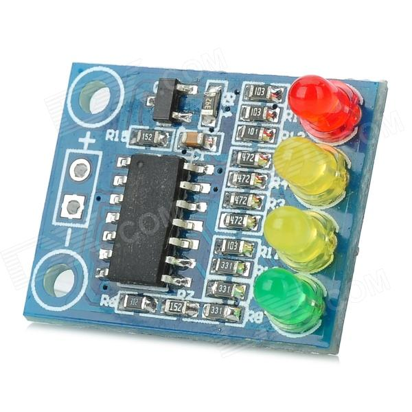 122901 12V 4 LED Battery Indicator Board - Deep BlueBoards &amp; Shields<br>Brand-Model122901Quantity1 PieceColorDeep BlueMaterialCCL + componentEnglish Manual / SpecYesOther Features4 LED battery indicator, red, yellow, yellow, green light shows  20%, 50%, 80%, 100% electric quantity; With one channel battery test interface and two installation holes; PCB size: 22.2 x 17.2mmPacking List1 x Battery indicator board<br>