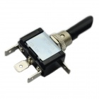 Jtron DIY Car Modification Switch / LED Blue Light Switch ON-OFF-ON - Black + Silver (12V / 20A)