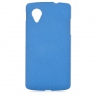 TEMEI Protective Frosted Plastic Back Case for Google Nexus 5 - Blue
