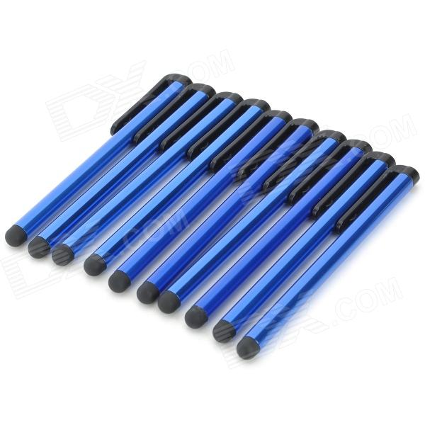 Buy Plastic High Sensitive Stylus Pen w/ Clip for IPAD / IPHONE / IPOD TOUCH - Blue (10PCS) with Litecoins with Free Shipping on Gipsybee.com
