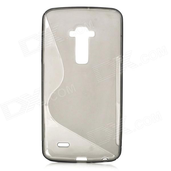"""S"" Style Protective TPU Back Case for LG G Flex - Translucent Grey"