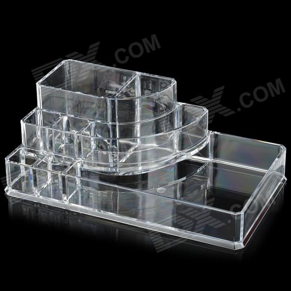 Buy Convenient Desktop Plastic Cosmetics / Makeup Organizer Case - Transparent with Litecoins with Free Shipping on Gipsybee.com