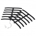 YCT001 Flocking Scarf / Tie / Belt Hangers - Black (2 PCS)