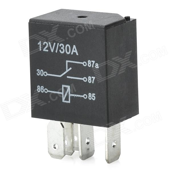 12v 30a 5 Pin Power Relay For Car Ac Air Conditioner Black 4 Plugs