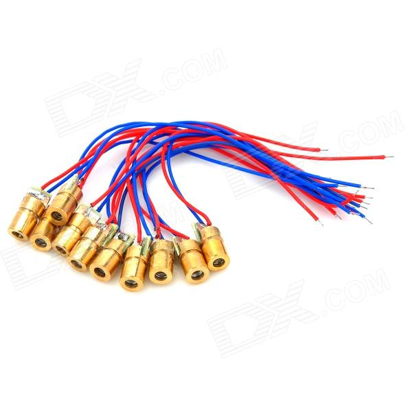 5mW 650nm Copper Semiconductor Laser Dot Diode Head Set (10PCS)
