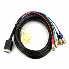 VGA Female to 5-BNC Male Cable RGBHV Component Video & Audio Connection Cable (100cm-Length)