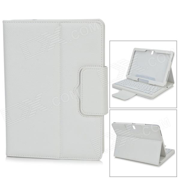Detachable Bluetooth V3.0 64-Key Keyboard w/ Case for Samsung Note 10.1 P600 / P601 - White
